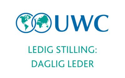 Ledig stilling: Daglig leder for UWC Norge
